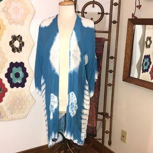 Woven Heart TieDye Kimono